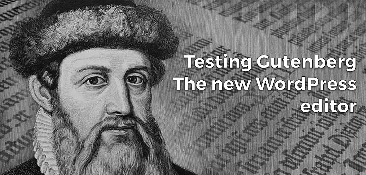 Testing Gutenberg on this Blog