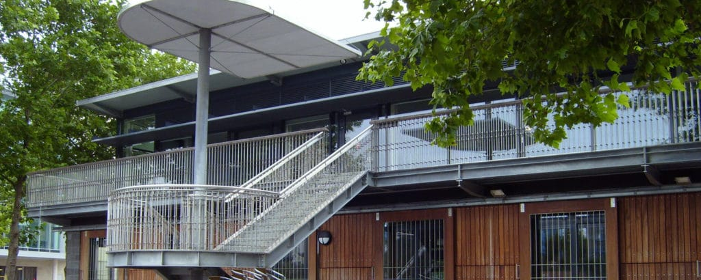 A view of The Pavilion, harbour side in Bristol.